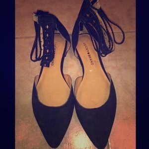 Lucky Brand Ankle Wrapped Flats Size 8